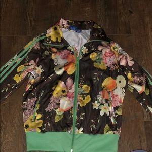 Floral Print Adidas Jacket